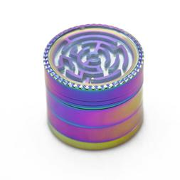 52mm Ice Magic Color 4 Pieces Maze Style Herb Grinder <font>