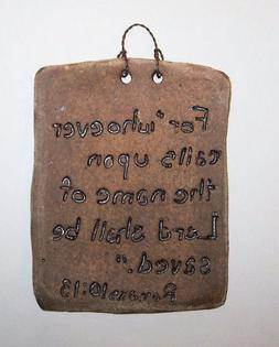 """ABC Products"" - Rustic Clay Tablet ~ With A Unique Sentimen"