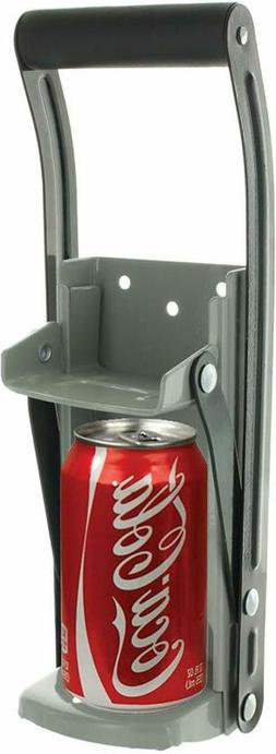 Aluminum Can Crusher & Bottle Opener | Heavy Duty Metal Wall
