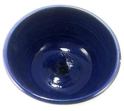 Aunt Chris' Pottery - Navy Blue - Apple Baker - Hand Made Cl
