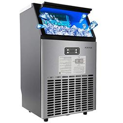 ROVSUN Built-in Stainless Steel Commercial Ice Maker,100lbs/