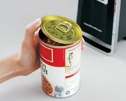 Can Opener Hamilton Beach Opens Lids Cans Push down  Lever