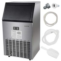 ROVSUN Commercial Ice Maker Automatic Built-In Stainless Ste