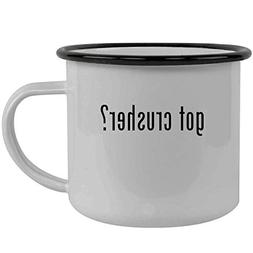 got crusher? - Stainless Steel 12oz Camping Mug, Black