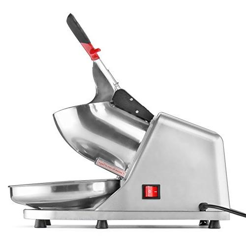 Flexzion Machine lbs Sno Maker Shaved Stainless Blade Push for Party Restaurant Use