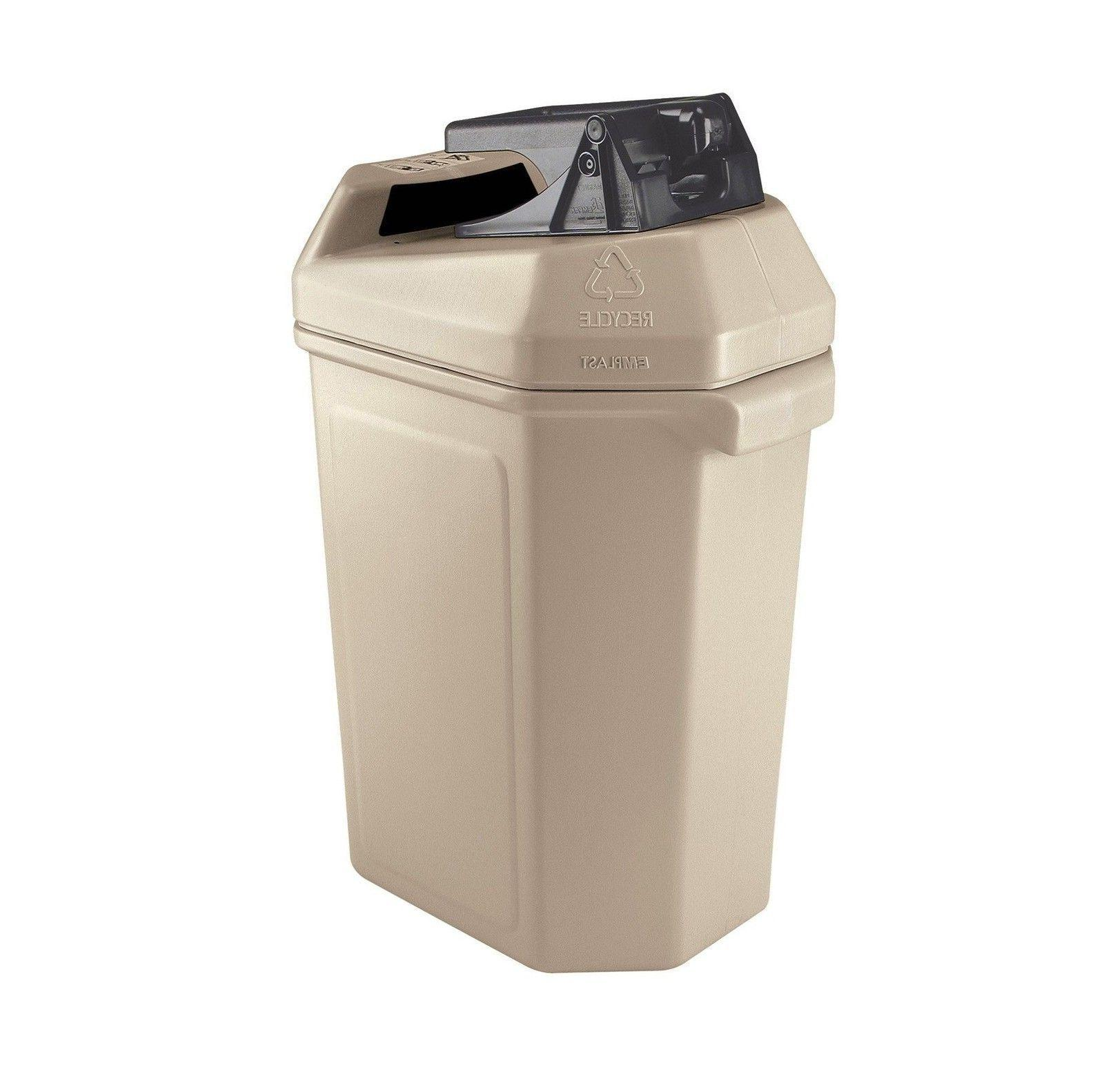 canpactor recycling container beige 30 gal polyethylene