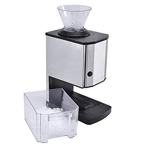 Costzon Electric Ice Crusher, Stainless Steel Ice Shaved Machine Party, Home