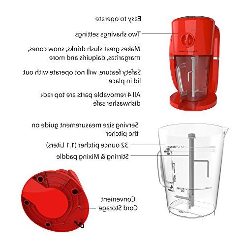 Frozen and Ice Crusher Machine for Daiquiris, Shaved or Classic Cuisine