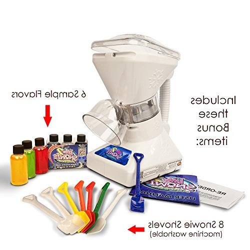 Little Snowie Shaver - Shaved Ice Machine and Cone Machine with Samples
