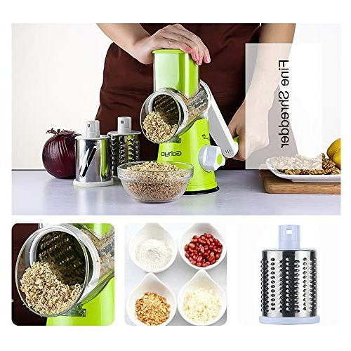 Manual Rotary Vegetable Cheese Grater, Stainless