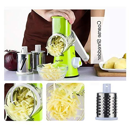 Manual Rotary Vegetable Grater, Potato Cutter, Nut Grinder,Vegetable - Stainless