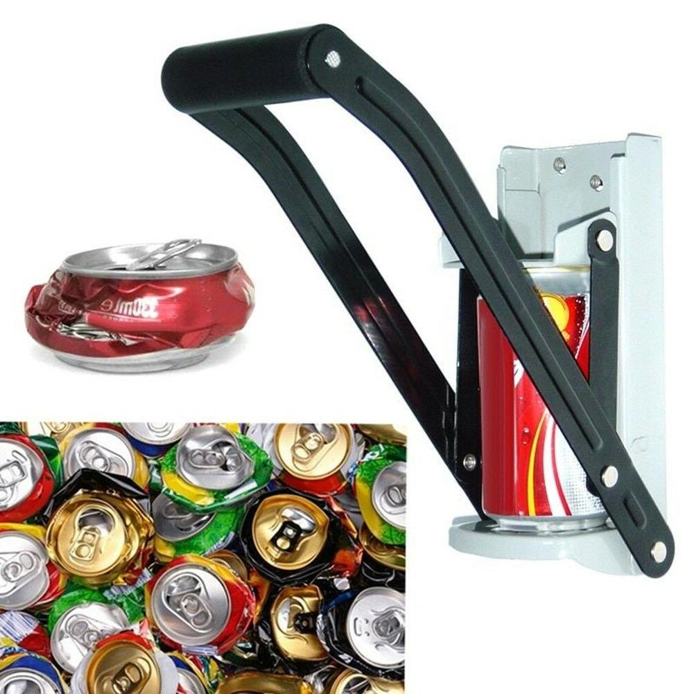 tin can crusher with grip handle recycling