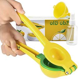 Ado Glo Lemon Squeezer - Heavy Duty Metal Lime Juicer - Manu
