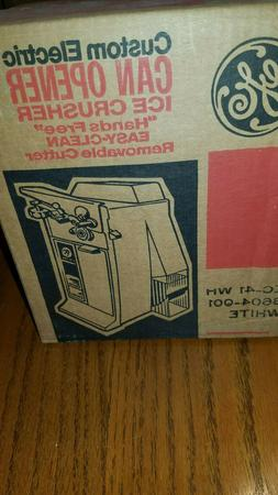 GE General Electric Can Opener Ice Crusher in one - NEW & Vi
